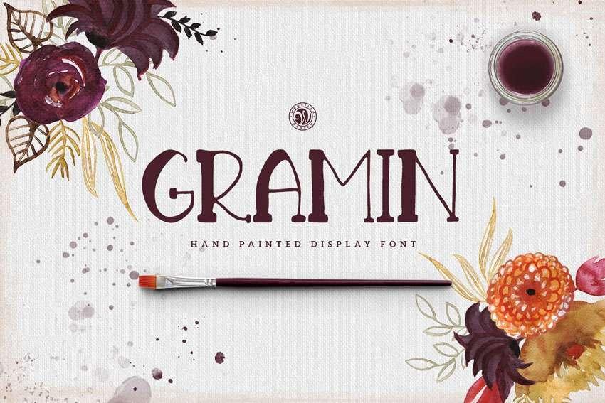 Gramin-font-Hand-Painted