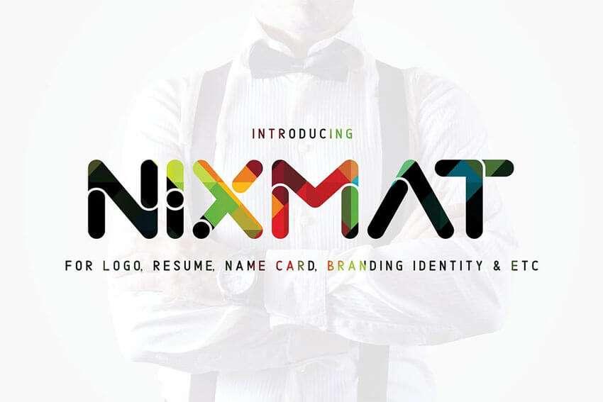 Nixmat-Font-Branding-Identity