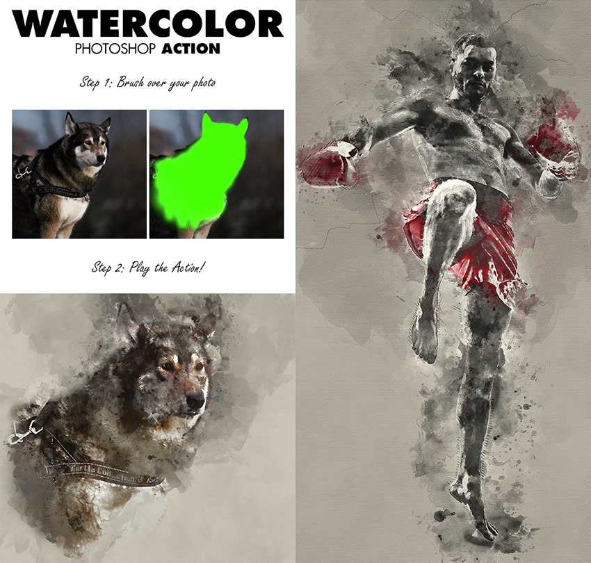 free download photoshop-photo-effect-action-watercolor