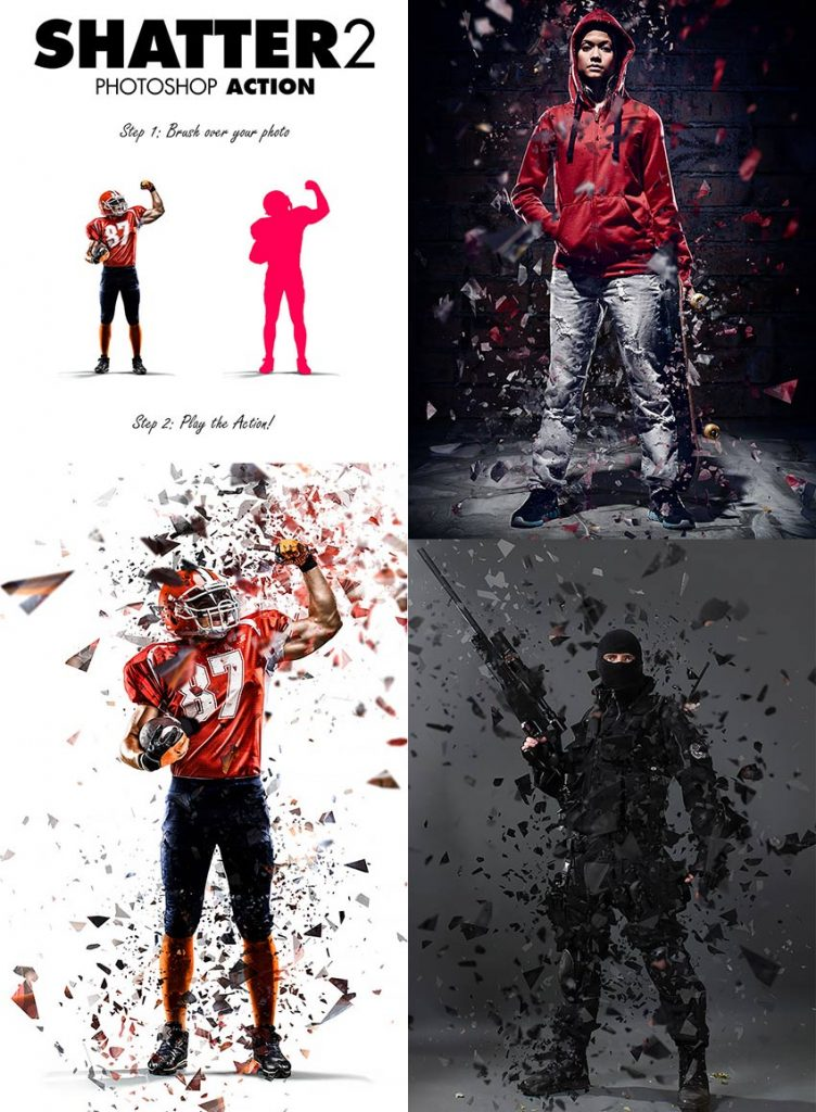 free download shatter-2-psd-photo-effect-action