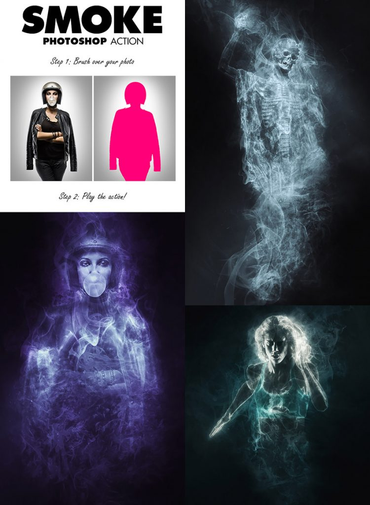 free download smoke-psd-photo-effect-action