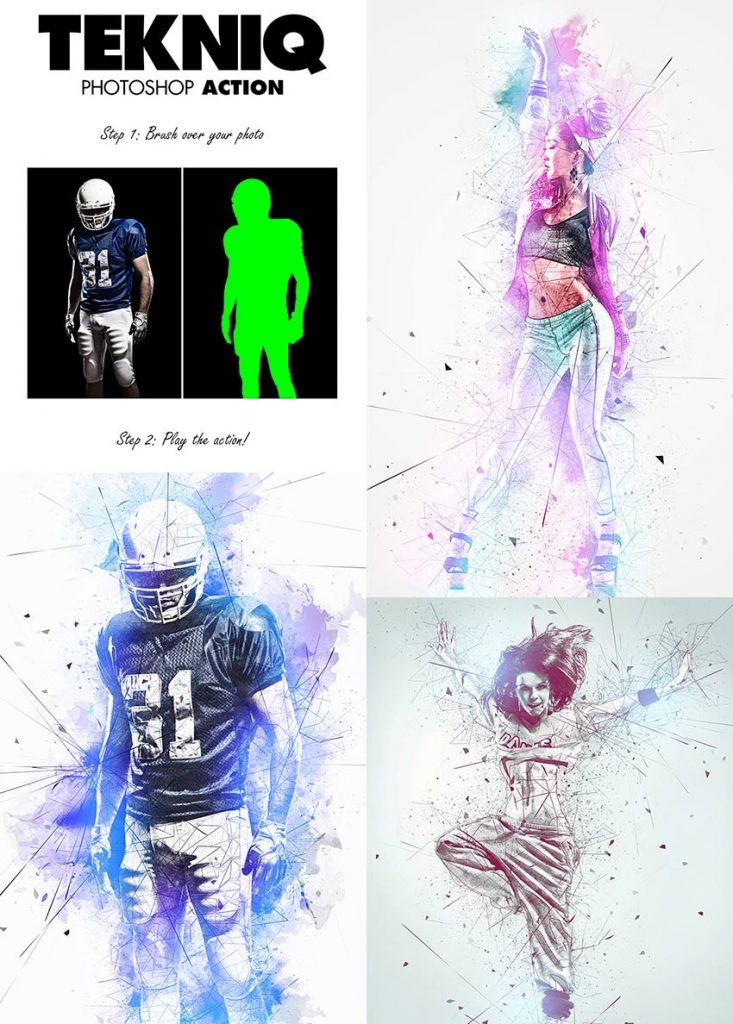 free download tekniq-psd-effect-photo-action