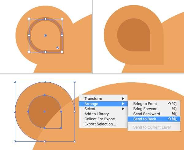 Membuat Icon Flat Design Character Beruang tahap 04