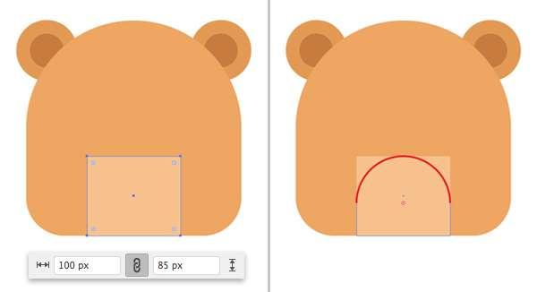 Membuat Icon Flat Design Character Beruang tahap 06