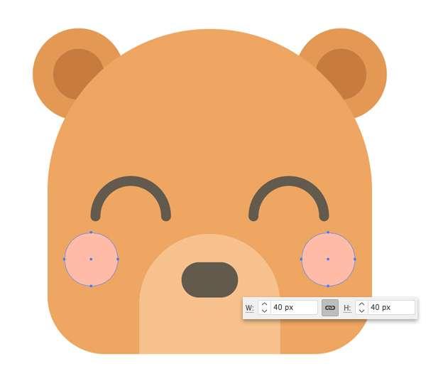 Membuat Icon Flat Design Character Beruang tahap 09