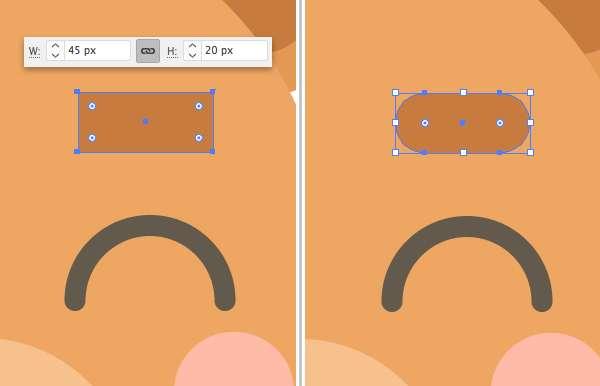 Membuat Icon Flat Design Character Beruang tahap 11
