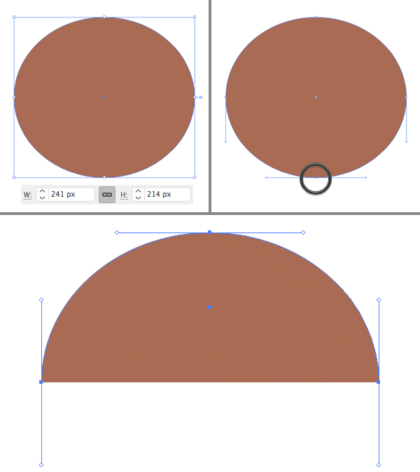 Membuat Jamur Flat Design Vector di Adobe Illustrator 01
