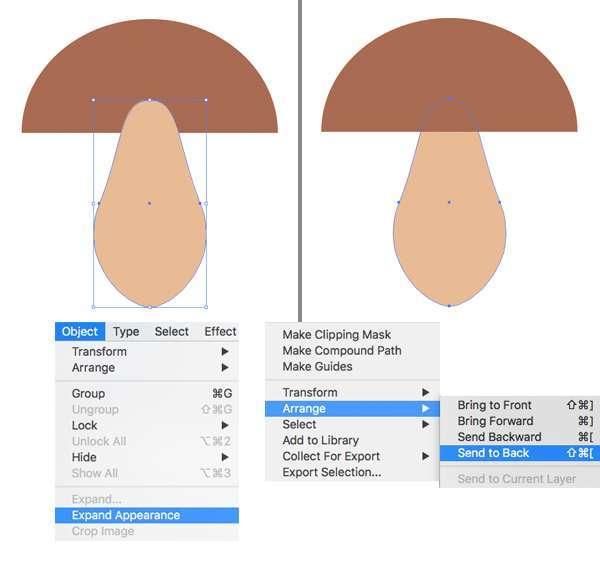 Membuat Jamur Flat Design Vector di Adobe Illustrator 04