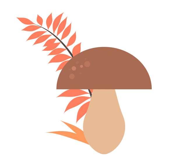 Membuat Jamur Flat Design Vector di Adobe Illustrator 11
