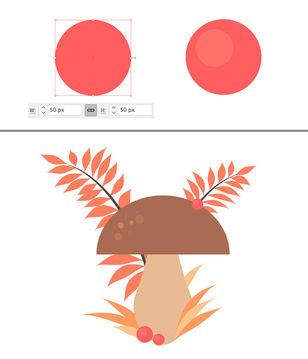 Membuat Jamur Flat Design Vector di Adobe Illustrator 12
