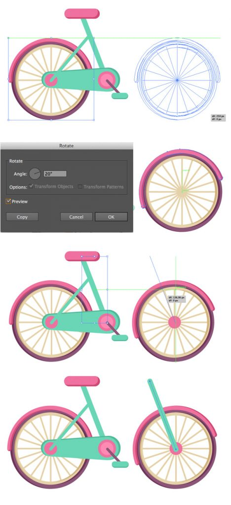 Tahap 12-flat-bicycle-wheels