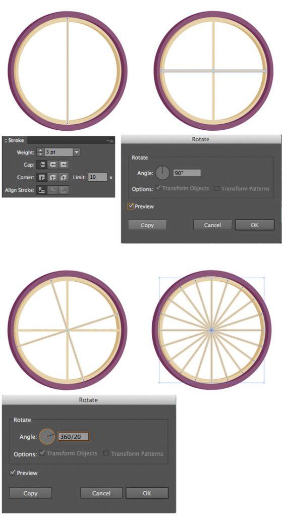 Tahap 5-flat-bicycle-wheels
