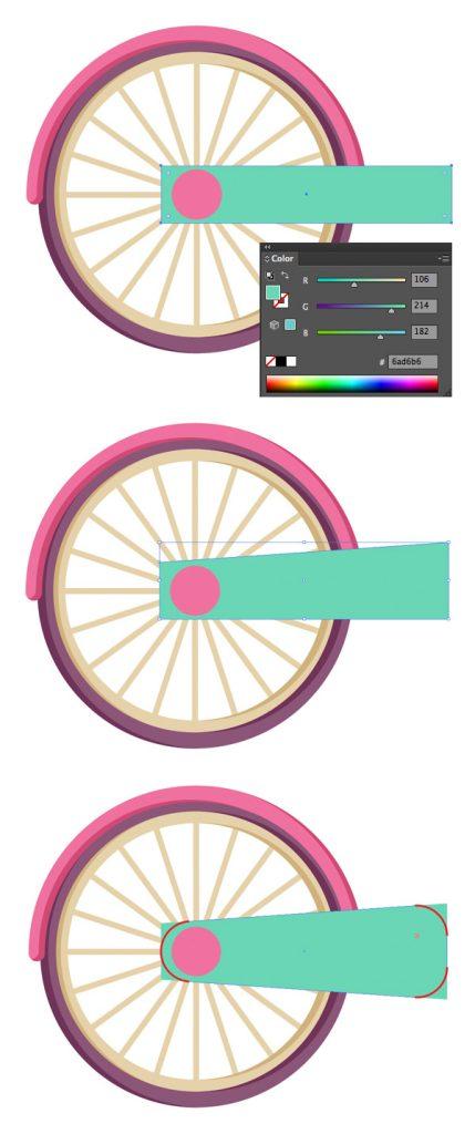 Tahap 8-flat-bicycle-wheels