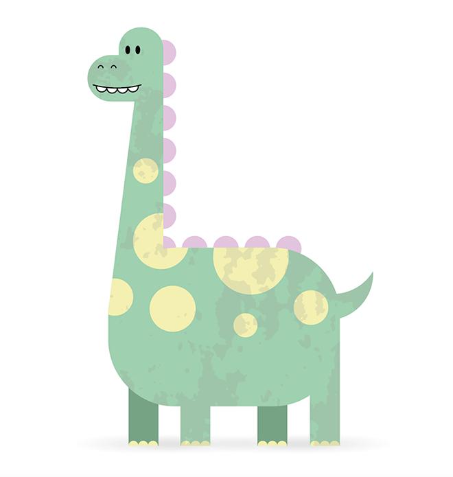 Tutorial Flat Design Dinosaurus Lucu Adobe Illustrator