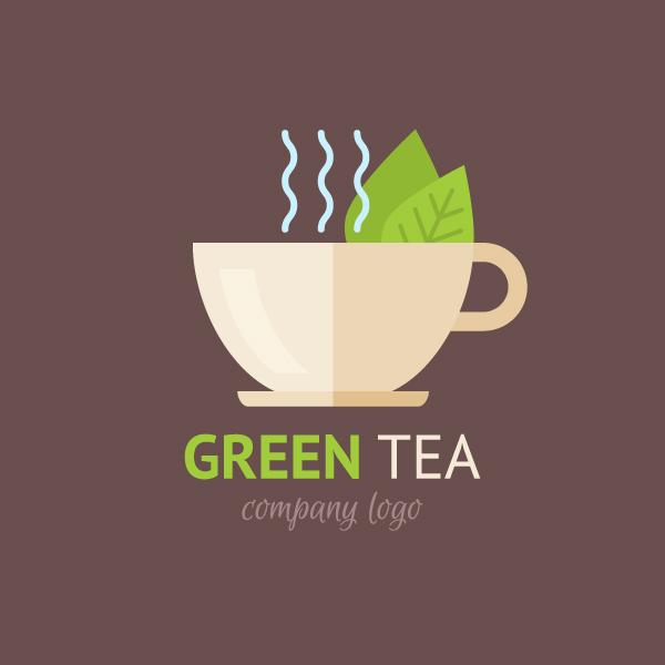 Tutorial Flat Design Logo-green-tea