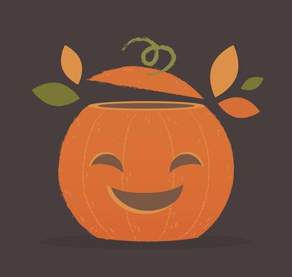 Tutorial Flat Design Vector Halloween Pumpkin di Adobe Illustrator
