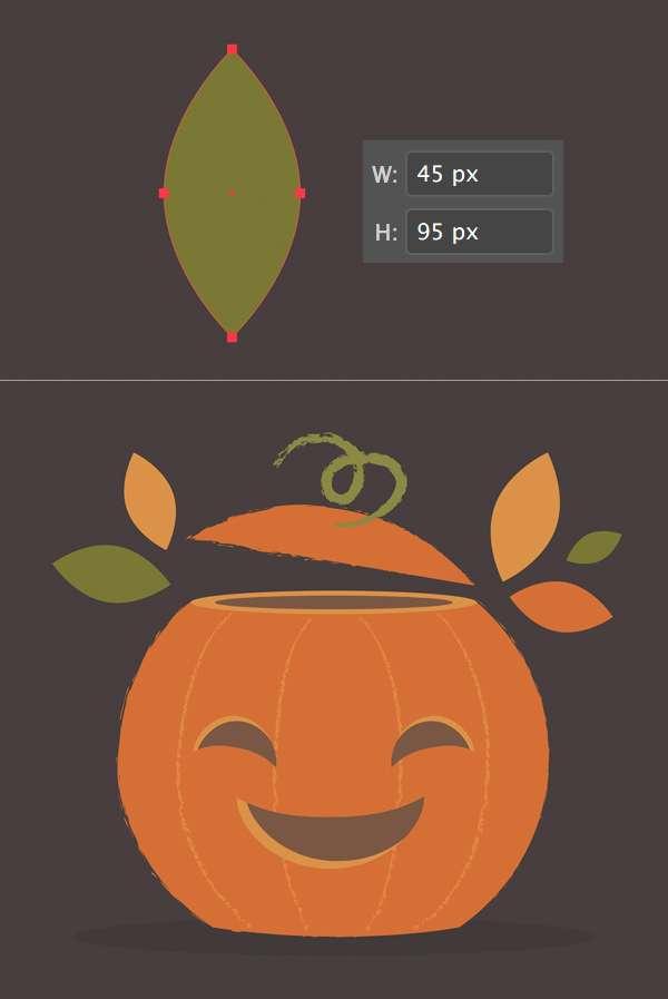 Tutorial Flat Design Vektor Halloween Pumpkin 13