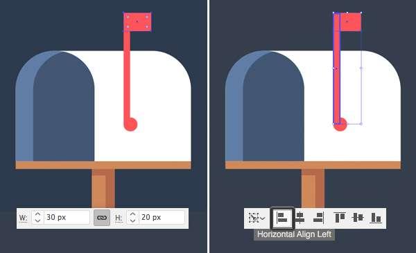 Tutorial Icon Flat Design Kotak Surat di Adobe Illustrator 08