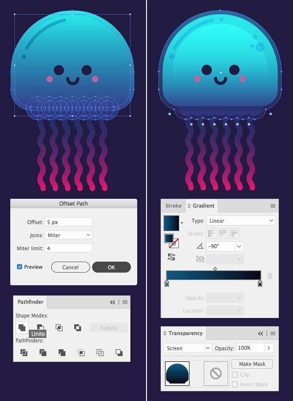 Tutorial Karakter Design Tahap 10-jellyfish