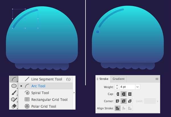 Tutorial Karakter Design Tahap 5-jellyfish
