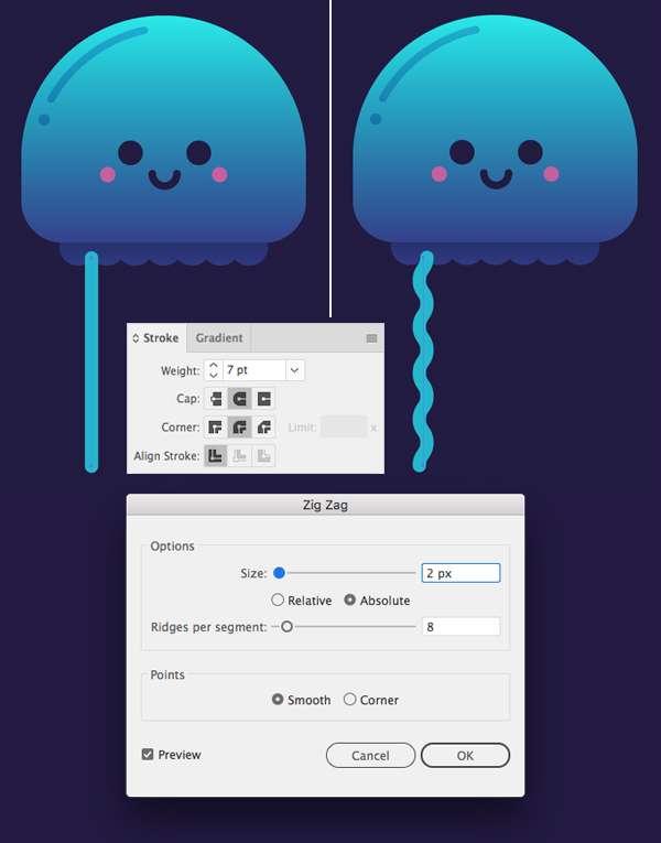 Tutorial Karakter Design Tahap 8-jellyfish
