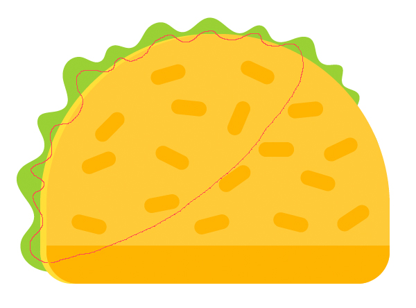 Tutorial-Membuat-Ikon-Taco-Flat-Design-06