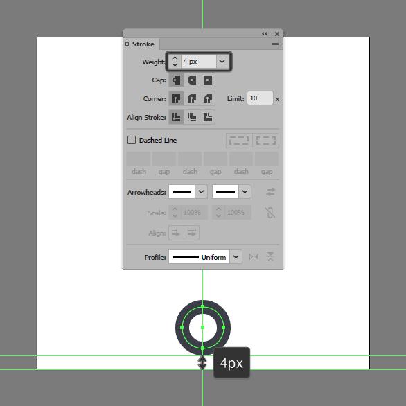 Tutorial Ikon Flat Design Kunci Kuno di Adobe Illustrator 02