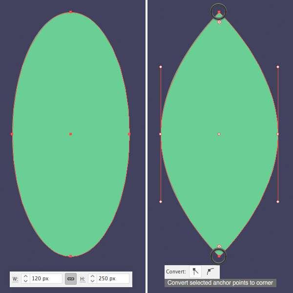 Tutorial Membuat Daun Flat Design 01 di Adobe Illustrator CC