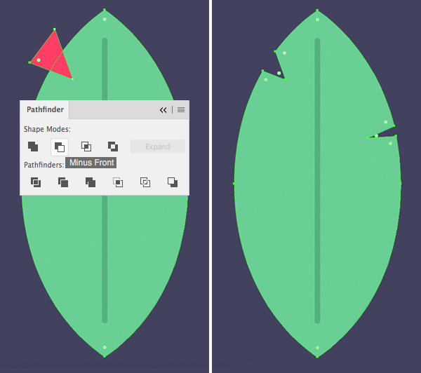 Tutorial Membuat Daun Flat Design 03 di Adobe Illustrator CC
