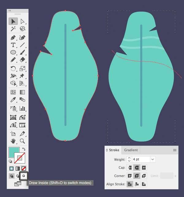 Tutorial Membuat Daun Flat Design 06 di Adobe Illustrator CC