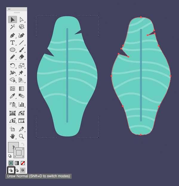 Tutorial Membuat Daun Flat Design 07 di Adobe Illustrator CC