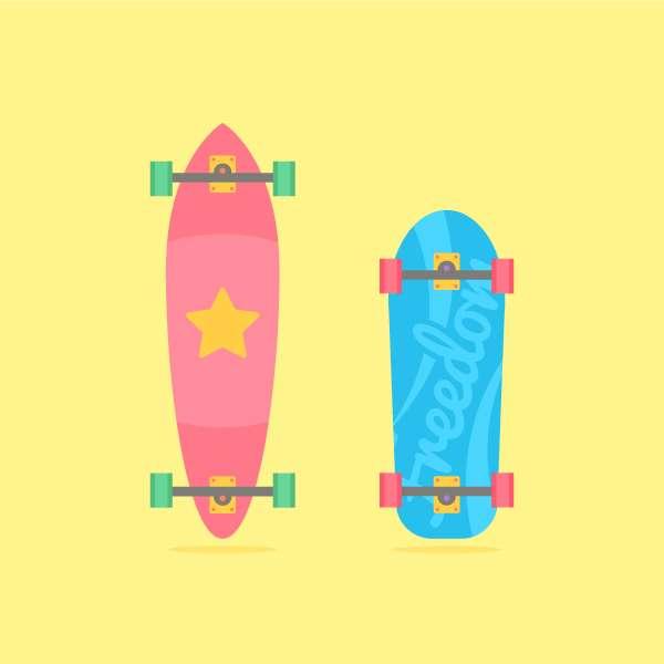 Tutorial Membuat Flat Design Skateboards Menggunakan Adobe Illustrator