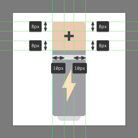 Tutorial Membuat Ikon Baterai di Adobe Illustrator CC 09