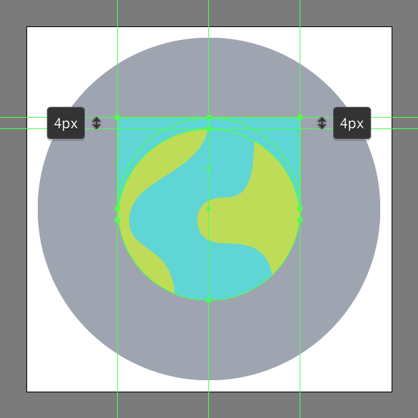 Tutorial Membuat Ikon Emoji Bumi di Adobe Illustrator CC 07