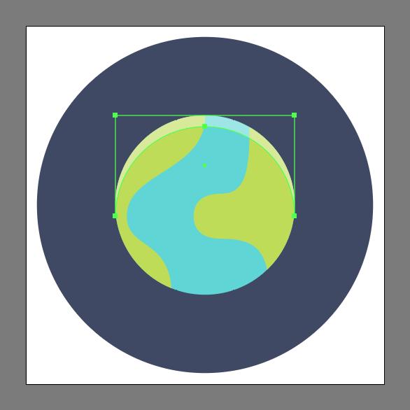 Tutorial Membuat Ikon Emoji Bumi di Adobe Illustrator CC 08