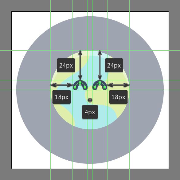 Tutorial Membuat Ikon Emoji Bumi di Adobe Illustrator CC 09