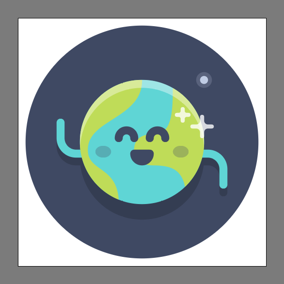 Tutorial Membuat Ikon Emoji Bumi di Adobe Illustrator CC 16