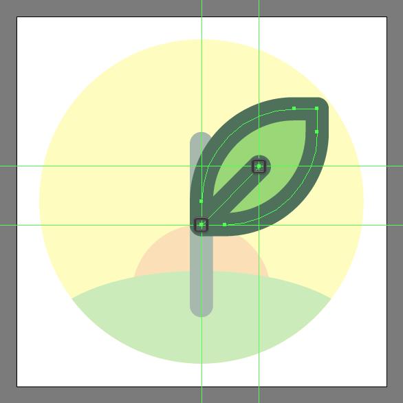 Tutorial Membuat Ikon Flat Design Energi Alam di Adobe Illustrator 09