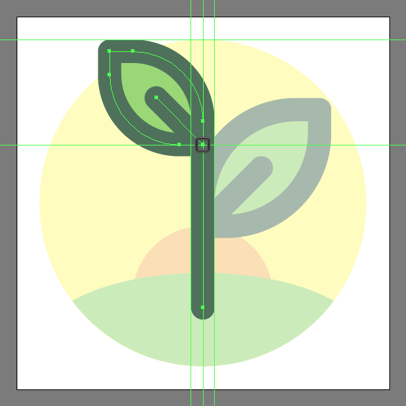 Tutorial Membuat Ikon Flat Design Energi Alam di Adobe Illustrator 10