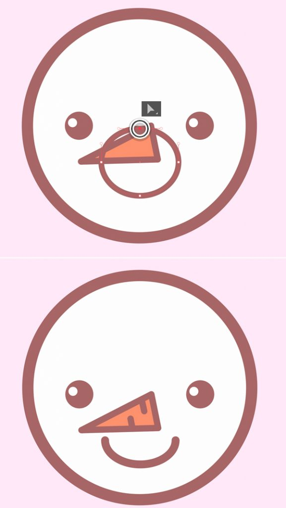 Tutorial Membuat Ikon Karakter Snowman di Adobe Illustrator 07