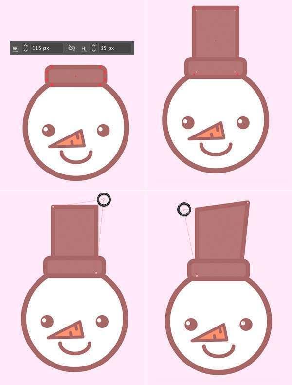 Tutorial Membuat Ikon Karakter Snowman di Adobe Illustrator 08