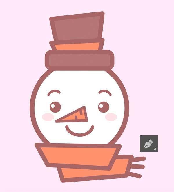Tutorial Membuat Ikon Karakter Snowman di Adobe Illustrator 12