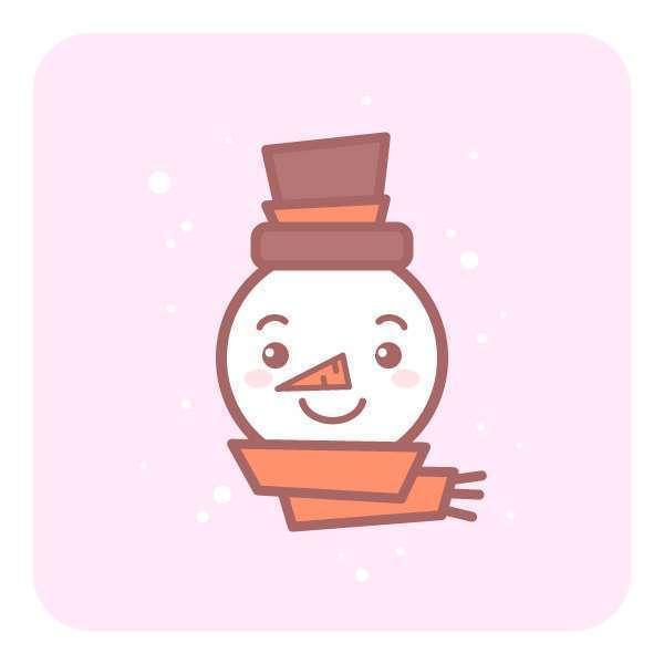 Tutorial Membuat Ikon Karakter Snowman di Adobe Illustrator