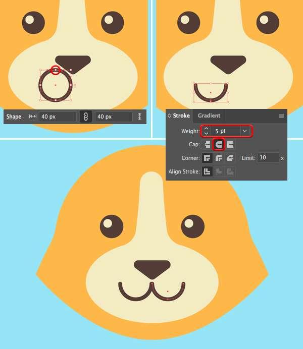 Tutorial Membuat Logo Karakter Serigala di Adobe Illustrator CC 09