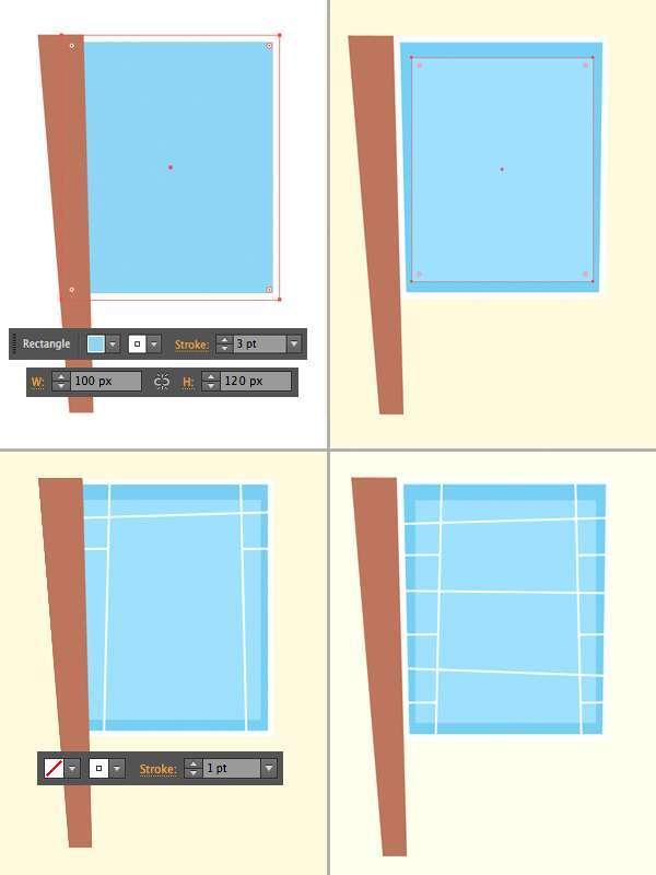 Tutorial Menggambar ilustrasi Vektor Bangunan Flat Design 02
