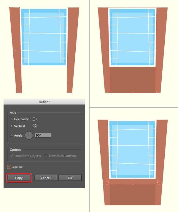 Tutorial Menggambar ilustrasi Vektor Bangunan Flat Design 03