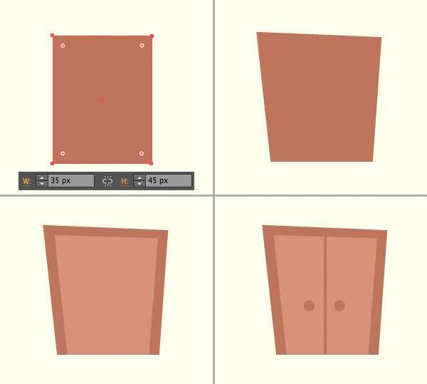 Tutorial Menggambar ilustrasi Vektor Bangunan Flat Design 04