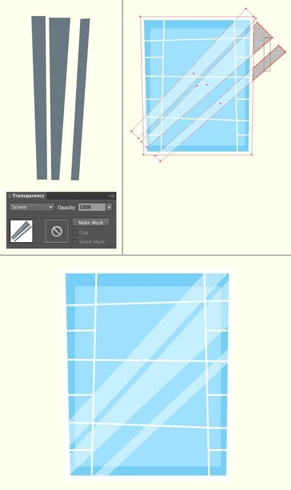 Tutorial Menggambar ilustrasi Vektor Bangunan Flat Design 06