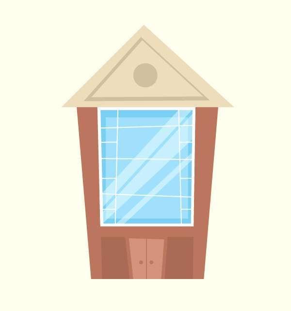 Tutorial Menggambar ilustrasi Vektor Bangunan Flat Design 07