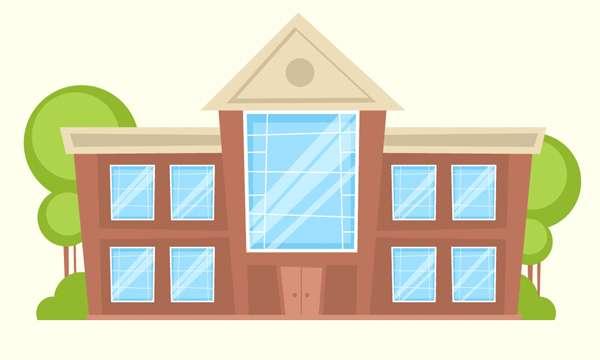 Tutorial Menggambar ilustrasi Vektor Bangunan Flat Design 11